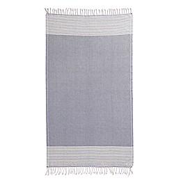 Sand Cloud Stripy Beach Towel in Blue/Ivory