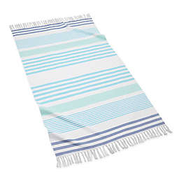 Kassatex Sonia Stripe Beach Towel in Cool