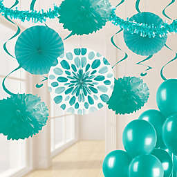 Creative Converting™ 32-Piece Birthday Party Decoration Kit in Teal
