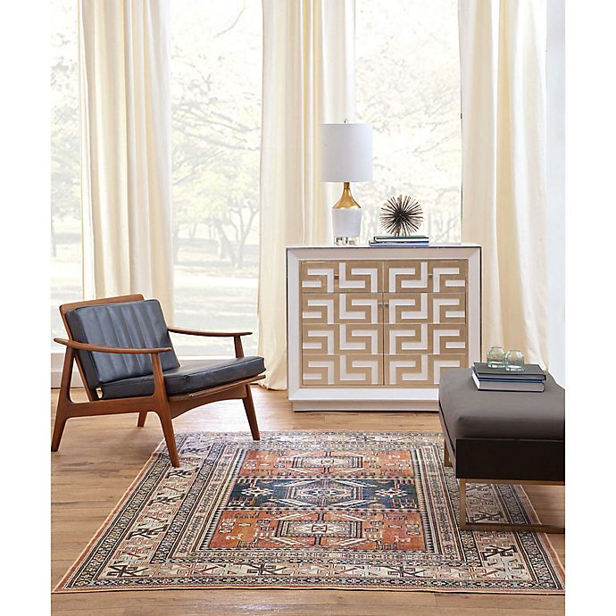 Alternate image 1 for Sams International Aztec Area Rug in Chocolate/Ivory