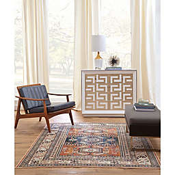 Sams International Aztec Area Rug in Chocolate/Ivory