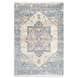 nuLOOM Tribal Medallion 3' x 5' Area Rug in Light Blue