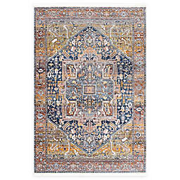 nuLOOM Tribal Medallion 7'10 Square Area Rug in Orange