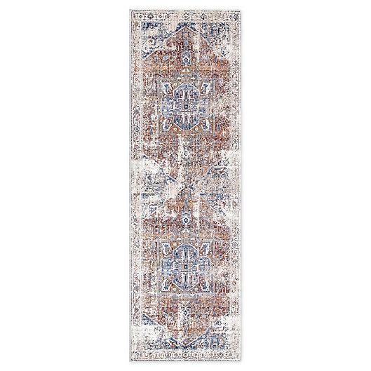 Alternate image 1 for nuLOOM Tribal Medallion 2'6 x 8' Runner in Ivory