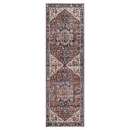 nuLOOM Tribal Medallion 2'6 x 8' Runner in Blue
