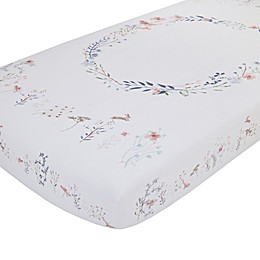 NoJo® Woodland Wreath Photo Op Fitted Crib Sheet in Pink