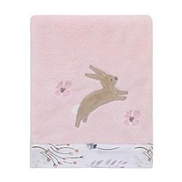 NoJo® Woodland Wreath Fleece Baby Blanket in Pink