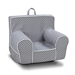 Kangaroo Trading Company Classic Mini Dot Grab-n-Go Kid's Rocker Foam Chair in Grey/Whte