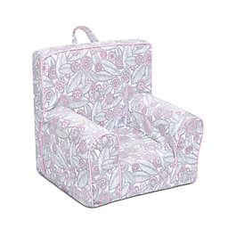 Kangaroo Trading Company Champion Tribal Pebbles Kid's Grab-n-Go Foam Chair in Grey/Pink