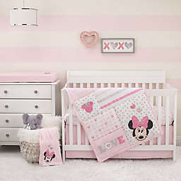 Disney® Love to Love Minnie Mouse 3-Piece Crib Bedding Set in Pink