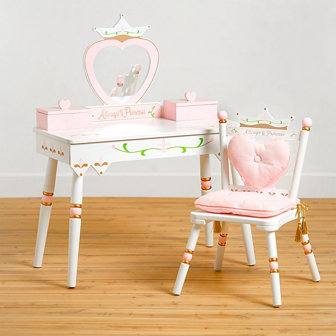 Alternate image 1 for Wildkin Princess Vanity Table & Chair Set in White