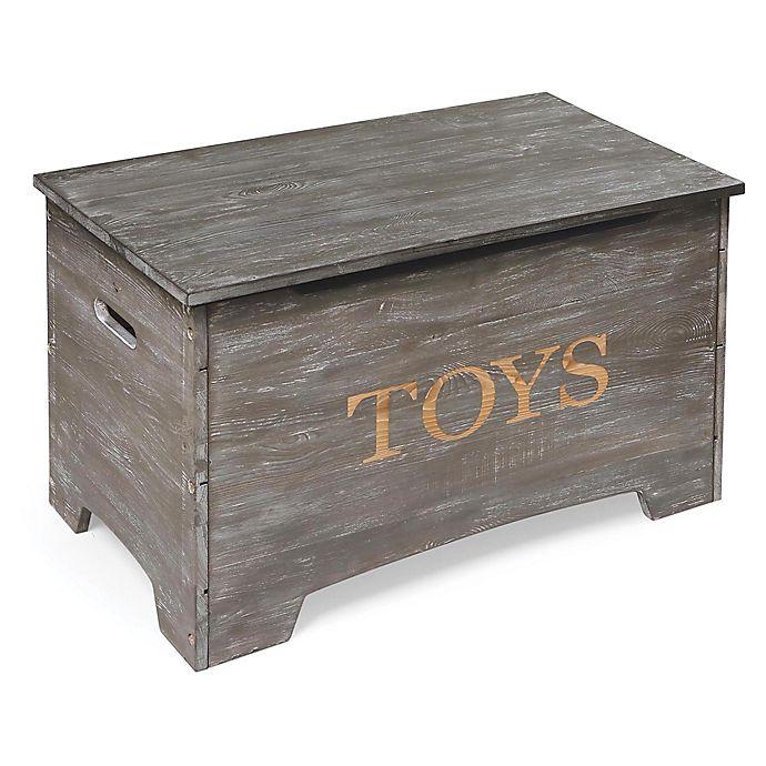 Alternate image 1 for Badger Basket® Rustic Wooden Toy Box