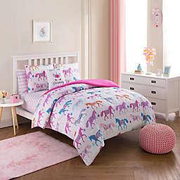 Unicorn Parade Comforter Set in Pink