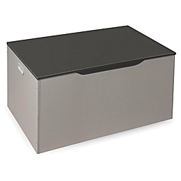 Badger Basket® Bench-Top Toy Storage Chest in Grey