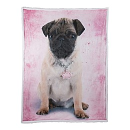 Rachael Hale Frida Reversible Throw Blanket in Pink