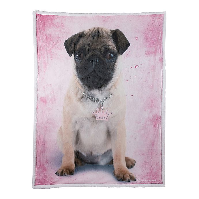 Alternate image 1 for Rachael Hale Frida Reversible Throw Blanket in Pink