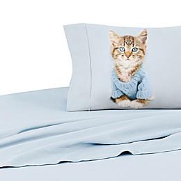 Rachael Hale® Lovable Stevie 200-Thread-Count Twin Pillowcase in Blue Grey