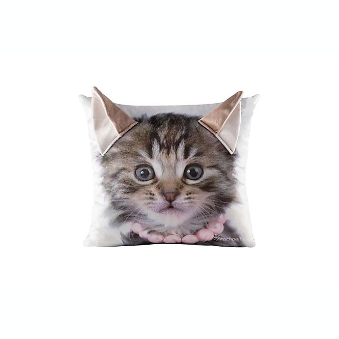 Alternate image 1 for Rachael Hale® Animals Charlie Square Throw Pillow