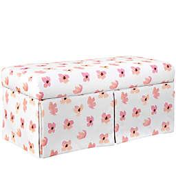 Skyline Furniture Ellisburg Panama Kids Storage Bench in Pink