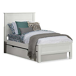 Hillsdale Furniture Highlands Alex Twin Panel Bed with Trundle in White