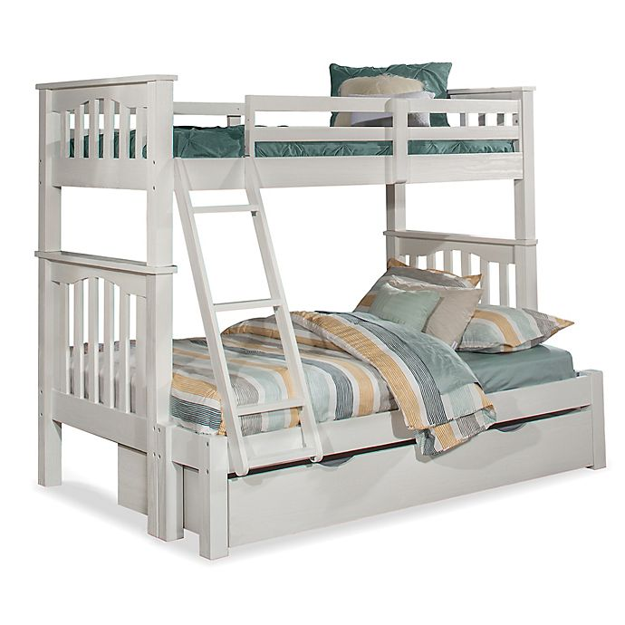 Alternate image 1 for Hillsdale Furniture Highlands Harper Twin Over Full Bunk Bed with Trundle in White
