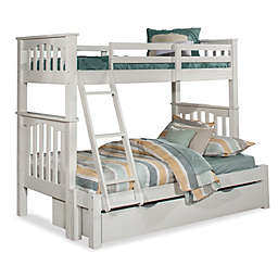 Hillsdale Furniture Highlands Harper Twin Over Full Bunk Bed with Trundle in White