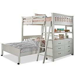 Hillsdale Highlands Full Loft Bed with Full Lower Bed in White