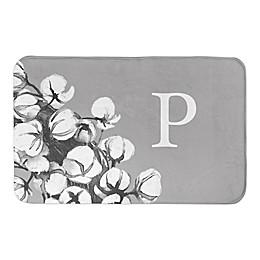 "Designs Direct Cotton Plant 21"" x 34"" Bath Mat in Grey"