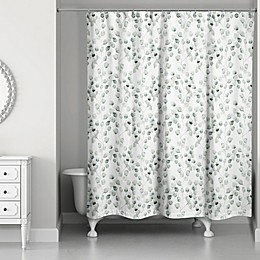 Direct Designs Eucalyptus Shower Curtain in Green