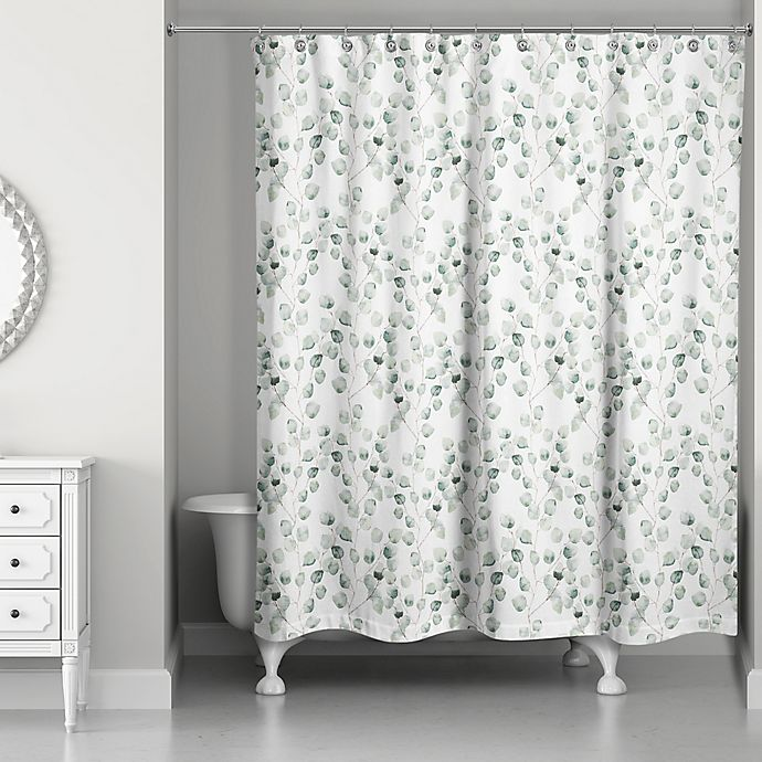 Alternate image 1 for Direct Designs Eucalyptus Shower Curtain in Green