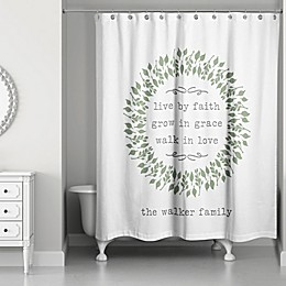 Designs Direct Live By Faith Shower Curtain in Green