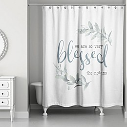 Designs Direct So Very Blessed Shower Curtain in Grey