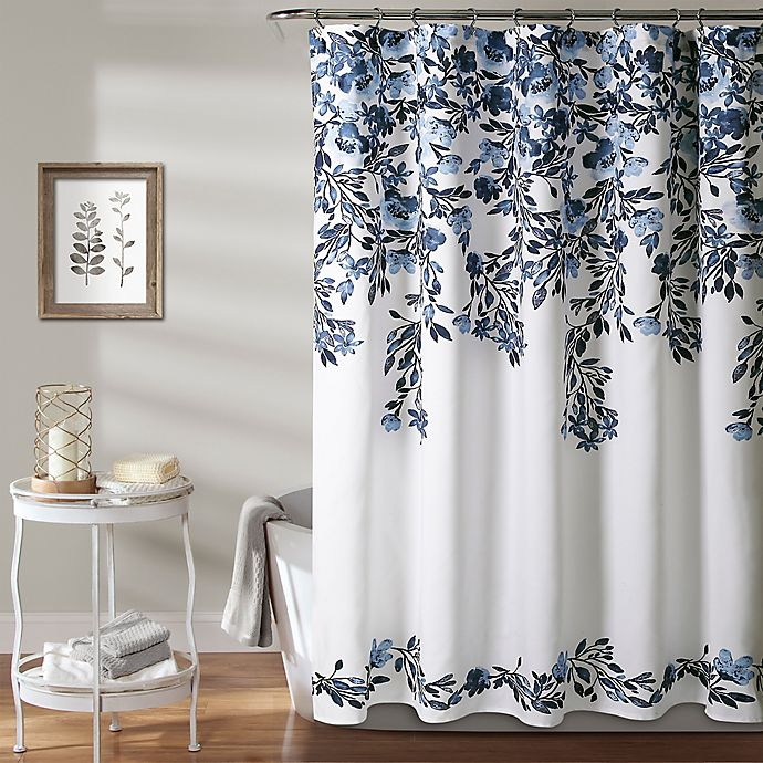 72 inch X 72 inch Blue 72 by 72, Lush Decor Lush D/écor Flower Drops Shower Curtain