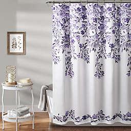 Lush Décor Tanisha 72-Inch x 72-Inch Shower Curtain in Purple