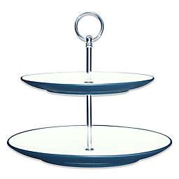 Noritake® Colorwave 2-Tier Hostess Tray in Blue