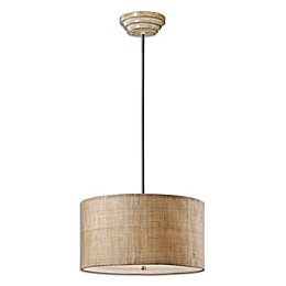 Uttermost 3-Light Dafina Burlap Pendant