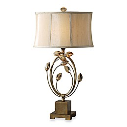 Uttermost Alenya Table Lamp in Gold with Bell-Shaped Shade