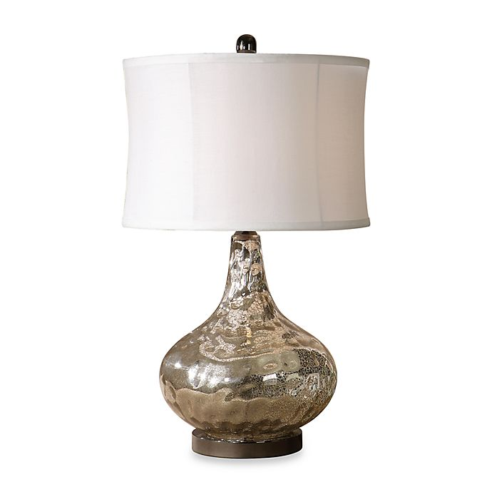 Alternate image 1 for Uttermost Polished Chrome Vizzini Glass Table Lamp