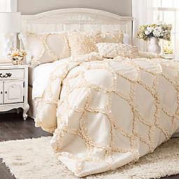 Lush Decor Avon 3-Piece Full/Queen Comforter Set in Ivory