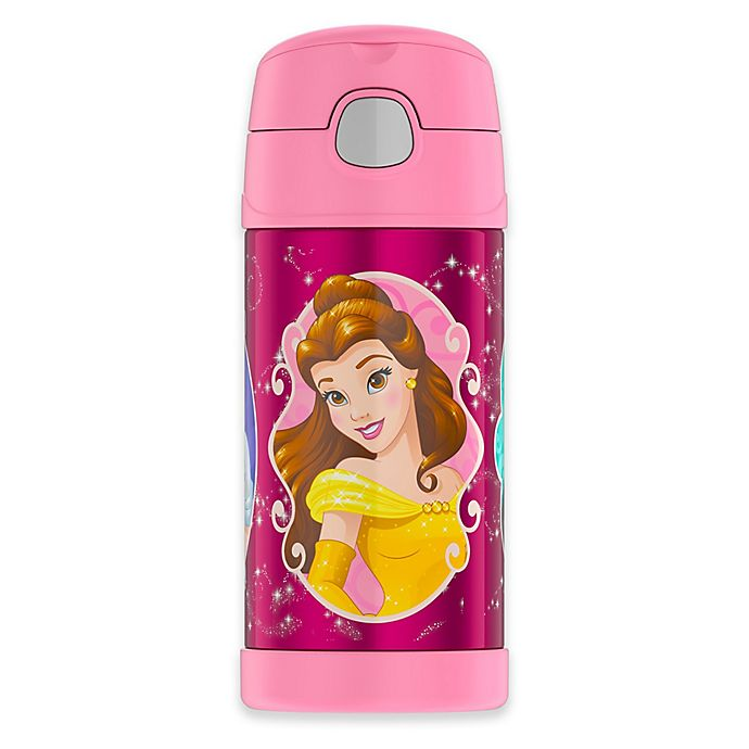 Alternate image 1 for Thermos® Funtainer™ Princess 12 oz. Stainless Steel Straw Bottle