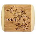 Totally Bamboo® Destination Michigan Slice of Life 11-Inch x 8.75-Inch Cutting Board