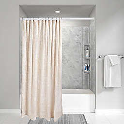 Wamsutta® Vintage Floral Embroidery 72-Inch x 96-Inch Shower Curtain in Linen