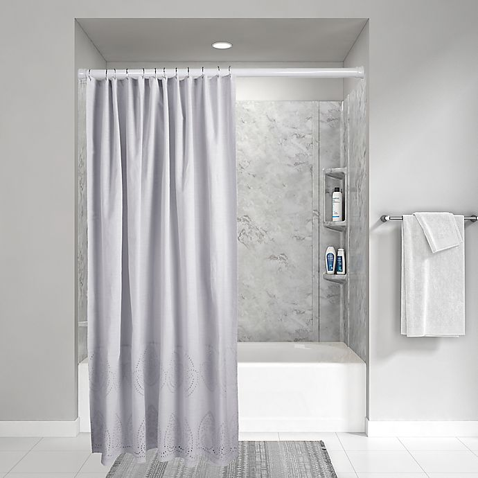 Alternate image 1 for Wamsutta® Vintage 72-Inch x 72-Inch Eyelet Shower Curtain in Grey