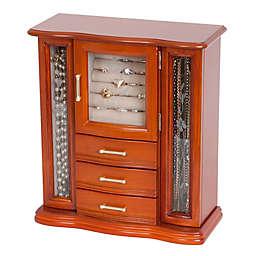 Mele & Co. Richmond Wood Jewelry Box in Walnut Finish