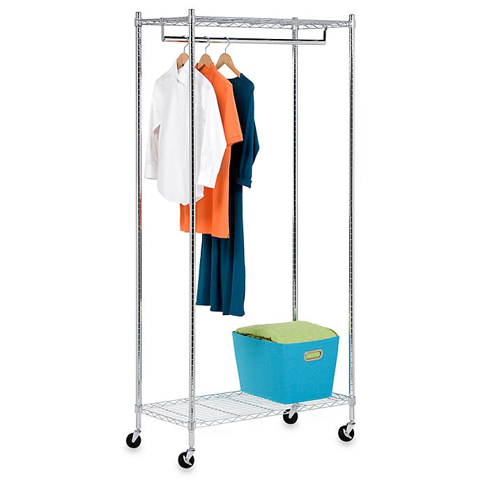 Alternate image 1 for Honey-Can-Do® Garment Rack in Chrome