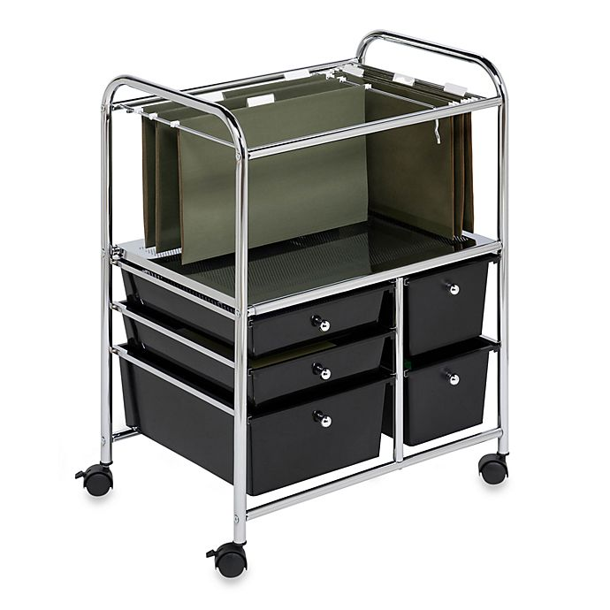 Alternate image 1 for Honey-Can-Do® Steel Rolling File Cart