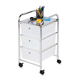 Honey-Can-Do® Steel 3-Drawer Rolling Storage Cart
