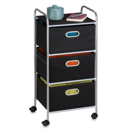 Honey Can Do 174 Steel 3 Drawer Rolling Fabric Cart Bed