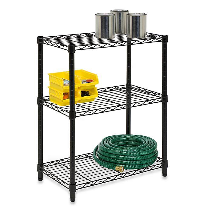 Alternate image 1 for Honey-Can-Do® Steel 3-Tier Shelving Unit