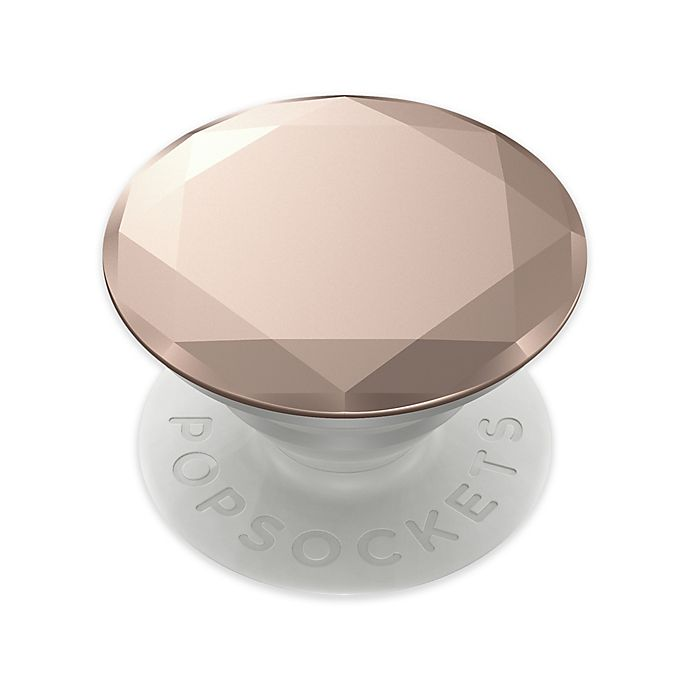 Alternate image 1 for PopSockets® Metallic Diamond Rose Gold Premium Swappable PopGrip Phone Grip and Stand